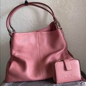 Coach Shadow Rose & matching wallet WITH TAGS